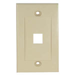 1Port Keystone Wallplate Ivory Decora Type - EWAAY.COM