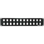 "2U 19"" 24port Blank Panel for Keystone Jack"