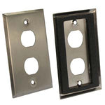 2-Port Single Gang Stainless Steel Wallplate with Water Seal - EWAAY.COM