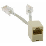 6-inch CAT5e RJ-45 Female to Dual RJ-45 Male Plug Ethernet T-Adapte - EWAAY.COM
