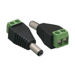 DC Plug Power Male 2.1 / 5.5mm to Terminal Block Adapter