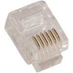 RJ12 (6P6C) Plug for Solid Round Wire 100pk - EWAAY.COM