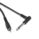 "6Ft Right Angle 1/4"" to Mono RCA-M Cable"