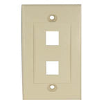 2Port Keystone Wallplate Ivory Decora Type