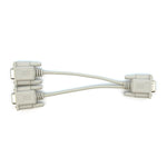 8 inch DB15HD-M to 2x DB15HD-F VGA Splitter Cable - EWAAY.COM