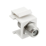 Snap-in F Type F/F Keystone Module White - EWAAY.COM