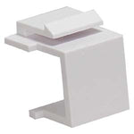 Snap-in Keystone Wallplate Blank Insert White