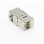 Cat5E STP Right Angle Keystone Coupler White
