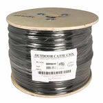 1000Ft Cat5e UTP Direct Burial Outdoor Network Bulk Cable Gel Type Black - EWAAY.COM