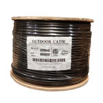 1000Ft Cat5e UTP Direct Burial Outdoor Network Bulk Cable Black - EWAAY.COM