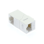 Cat6 Right Angle Keystone Coupler White