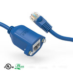 1Ft Cat6 Panel Mount Extension Ethernet Cable Blue - EWAAY.COM