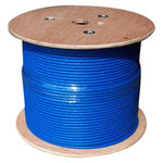 1000Ft Cat.6A 10G Solid Wire Bulk Cable Blue - EAGLEG.COM