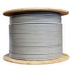 1000Ft Cat.6A 10G Solid Wire Bulk Cable Gray - EWAAY.COM