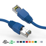 Cat6A Shielded (SSTP) Snagless Ethernet Patch Cable Booted (1Ft - 10Ft) - EWAAY.COM