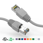 Cat6A Shielded (SSTP) Snagless Ethernet Patch Cable Booted (15Ft - 100Ft) - EWAAY.COM