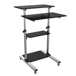 Compact Height-Adjustable Computer Cart WST-01 - EWAAY.COM