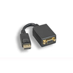 Display Port Male to VGA Female Adapter Cable with Latches Black - EAGLEG.COM