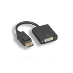DisplayPort Male to DVI-D Female Adapter Cable with Latches Black - EAGLEG.COM