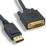 6Ft Display Port Male to DVI Male Cable - EWAAY.COM