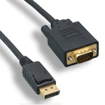 6Ft Premium Display Port to VGA Cable Male to Male 28AWG - EWAAY.COM