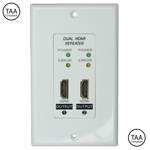 Dual HDMI Repeater Wall Plate (Up to 150ft at 1080p) - EAGLEG.COM