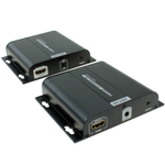 HDMI Extender Over Ethernet Cable with Built-in IR (Up to 394ft) - EAGLEG.COM