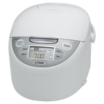 Tiger JAX-R Series White Micom Rice Cooker With Tacook Cooking Plate JAX-R10U/JAX-R18U
