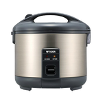 Tiger Rice Cooker and Warmer Stainless Steel 3 Cup, 5.5 Cup, 8 Cup, 10 Cup
