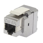 Cat6A 180 Degrees Shielded RJ45 Keystone Jack