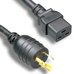 6Ft 12AWG High Voltage Power Cord NEMA L6-20P to IEC-60320-C19 - EWAAY.COM