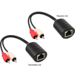 RCA Red White Audio Over Cat5 Cat5e Cat6