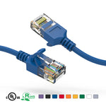 Slim Cat6A Ethernet Patch Cable Booted 28AWG (5Ft - 50Ft) - EWAAY.COM