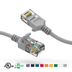 Slim Cat6A Ethernet Patch Cable Booted 28AWG (0.5Ft - 3Ft) - EWAAY.COM