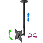 "Flat TV Ceiling Mount 23~42"" Tilt/Swivel, LCD-504A Black - EAGLEG.COM"