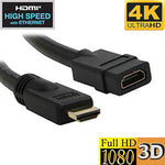 6Ft 28AWG UHD HDMI Cable High Speed w/Ethernet Extension CL3/FT4 4K 60Hz 3840x2160