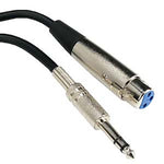 "XLR 3P Female to 1/4"" TRS Microphone Cable - EAGLEG.COM"