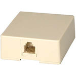 RJ12 Modular Single Port Surface Mount Jack Ivory