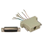 DB25 Female to RJ45 Modular Adapter Ivory - EWAAY.COM