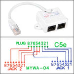 Fabulous 10 100 Baset 1P 2J 07 Wiring Splitter Pigtail Type Shop Quality Wiring Digital Resources Unprprontobusorg