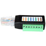 CAT5/CAT6 RJ45 Male Plug to 8-Pin Terminal Block Adapter - EWAAY.COM