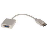 Display Port Male to VGA Female Adapter Cable White