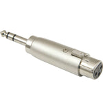 "XLR Female to 1/4"" Stereo Plug Adapter - EWAAY.COM"