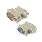 DVI-I Dual Link Male (24+5) / VGA (DB15HD) Female Adapter Gold Plated