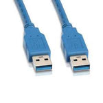 USB 3.0 Cable A-Male to A-Male - 1Ft to 15Ft