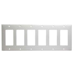 6 Gang Decora Wall Plate White (GFCI)