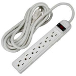 12Ft 6-Outlet Surge Protector 14AWG/3, 15A, 90J - EAGLEG.COM