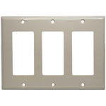 Triple Gang Decora Wall Plate Beige