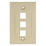3Port Keystone Wallplate Ivory Decora Type - EAGLEG.COM