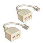 6-inch CAT5e RJ-45 Male to Dual RJ-45 Female Ethernet T-Adapter